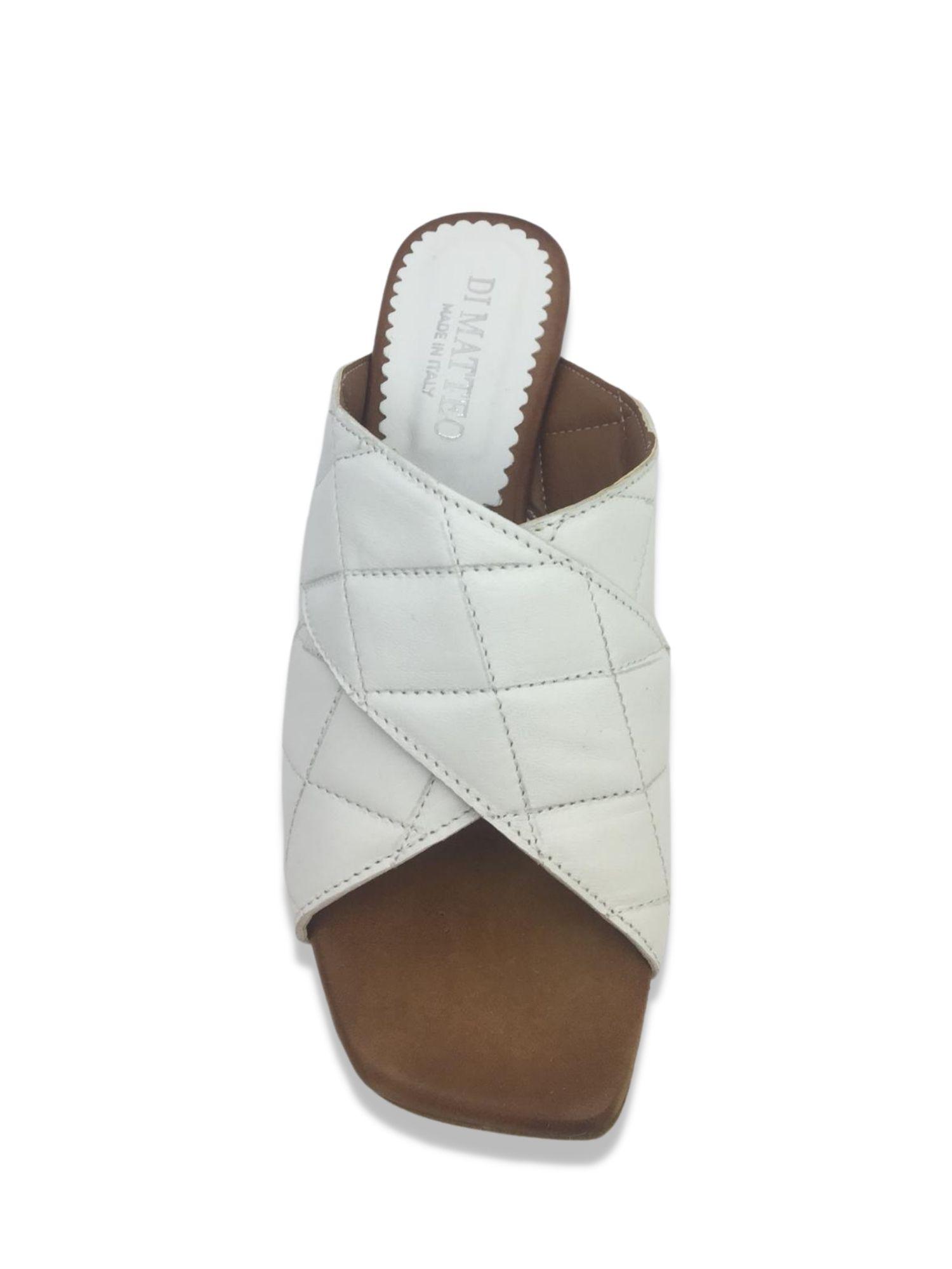 Sandalo scalzato Made in Italy 506 Bianco alto