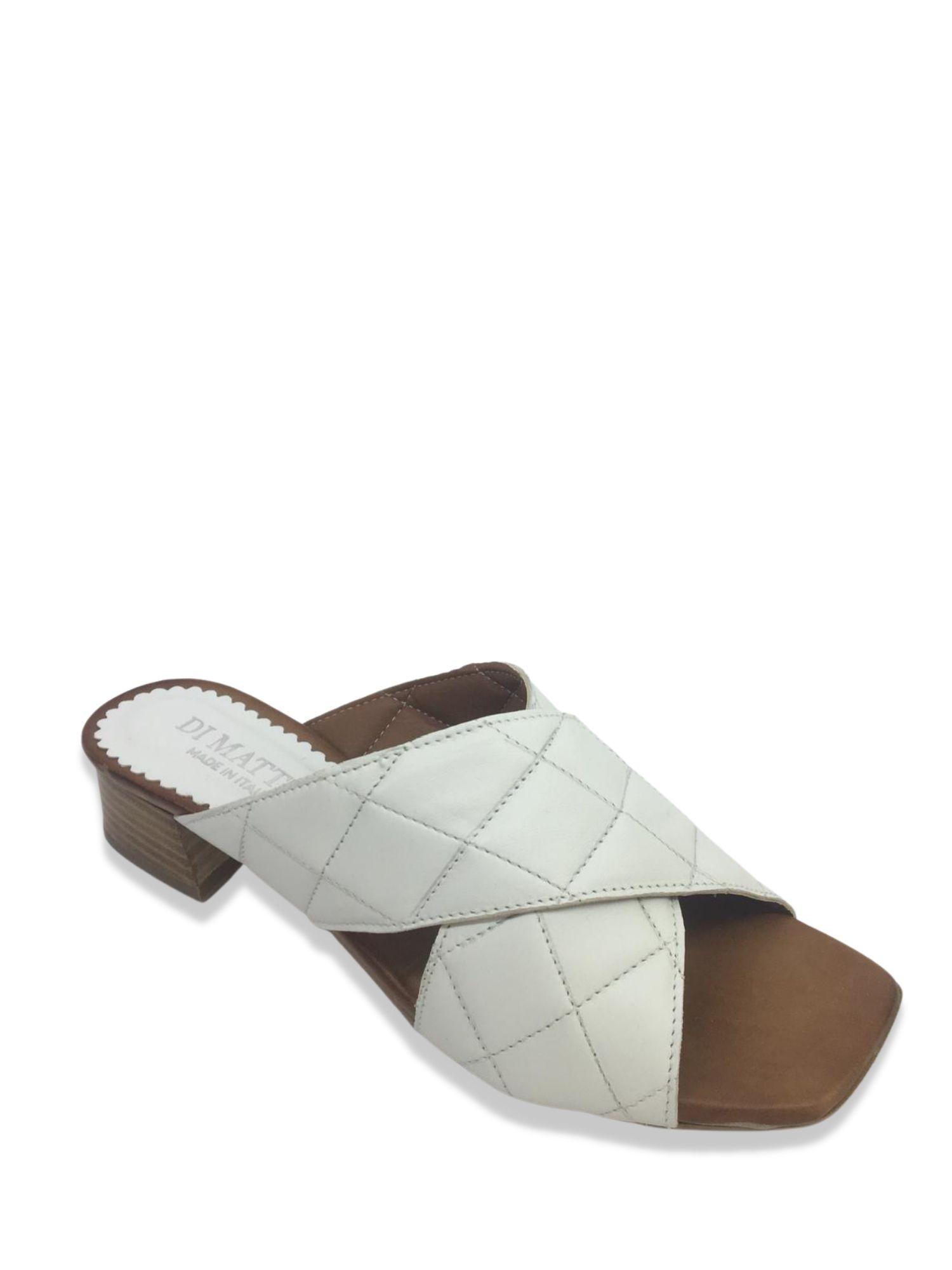 Sandalo scalzato Made in Italy 506 Bianco laterale