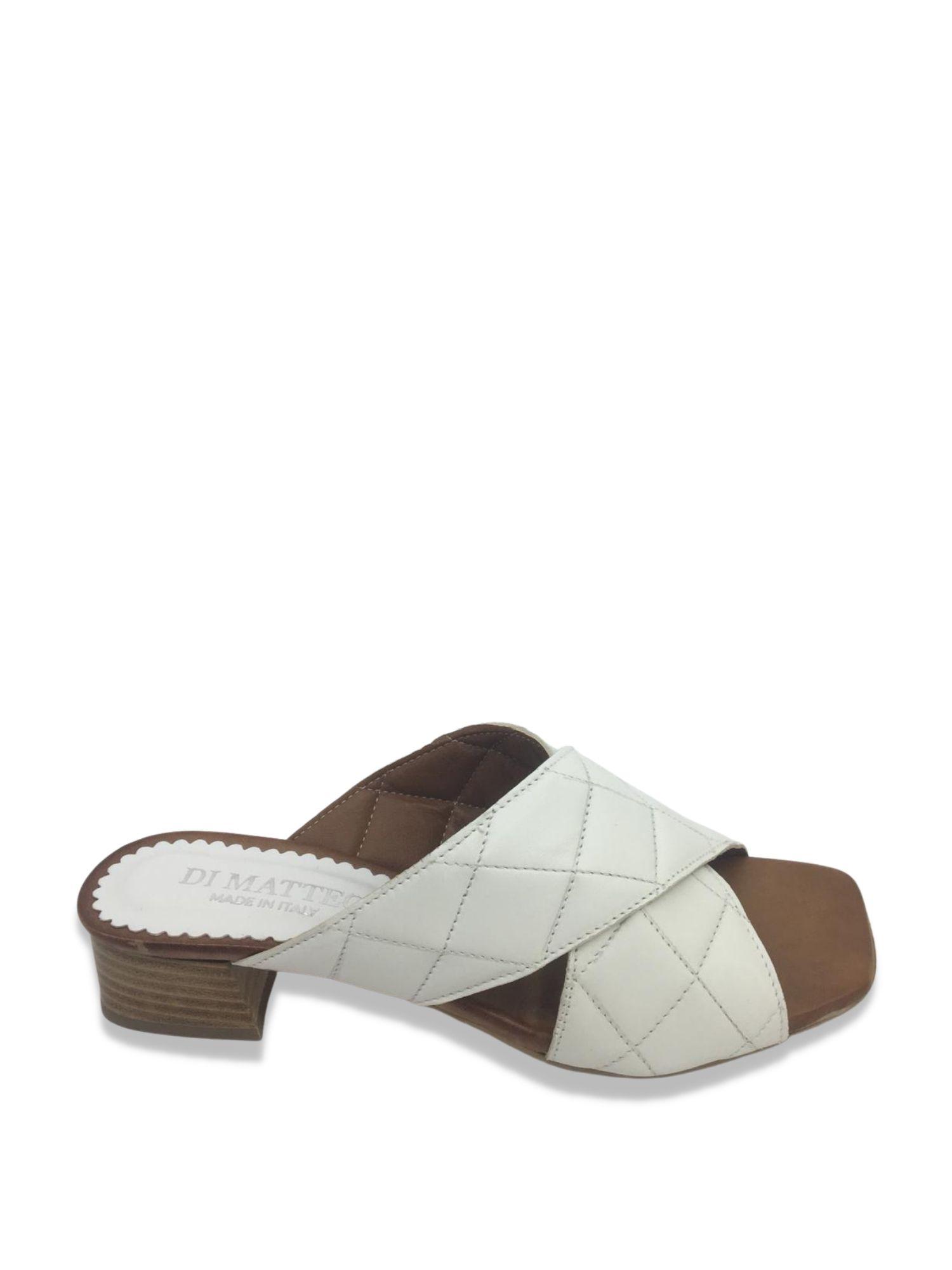 Sandalo scalzato Made in Italy 506 Bianco