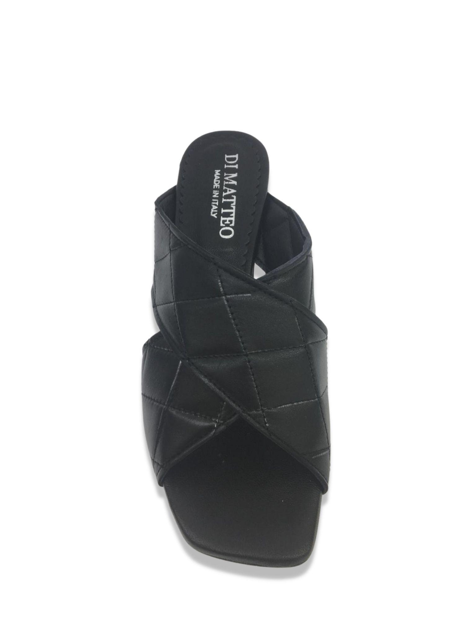 Sandalo scalzato Made in Italy 506 Nero alto 1