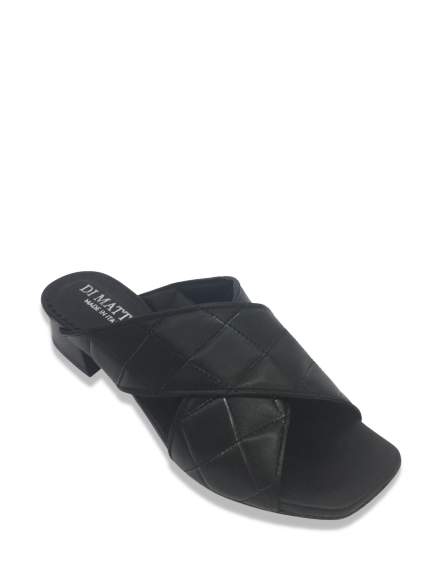 Sandalo scalzato Made in Italy 506 Nero alto 2