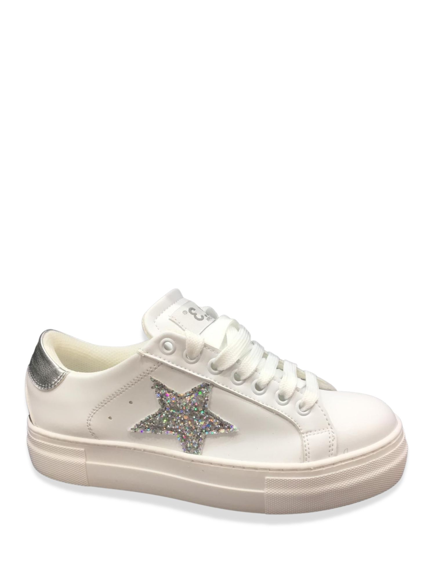 Sneakers Made in Italy 501 Biancoargento