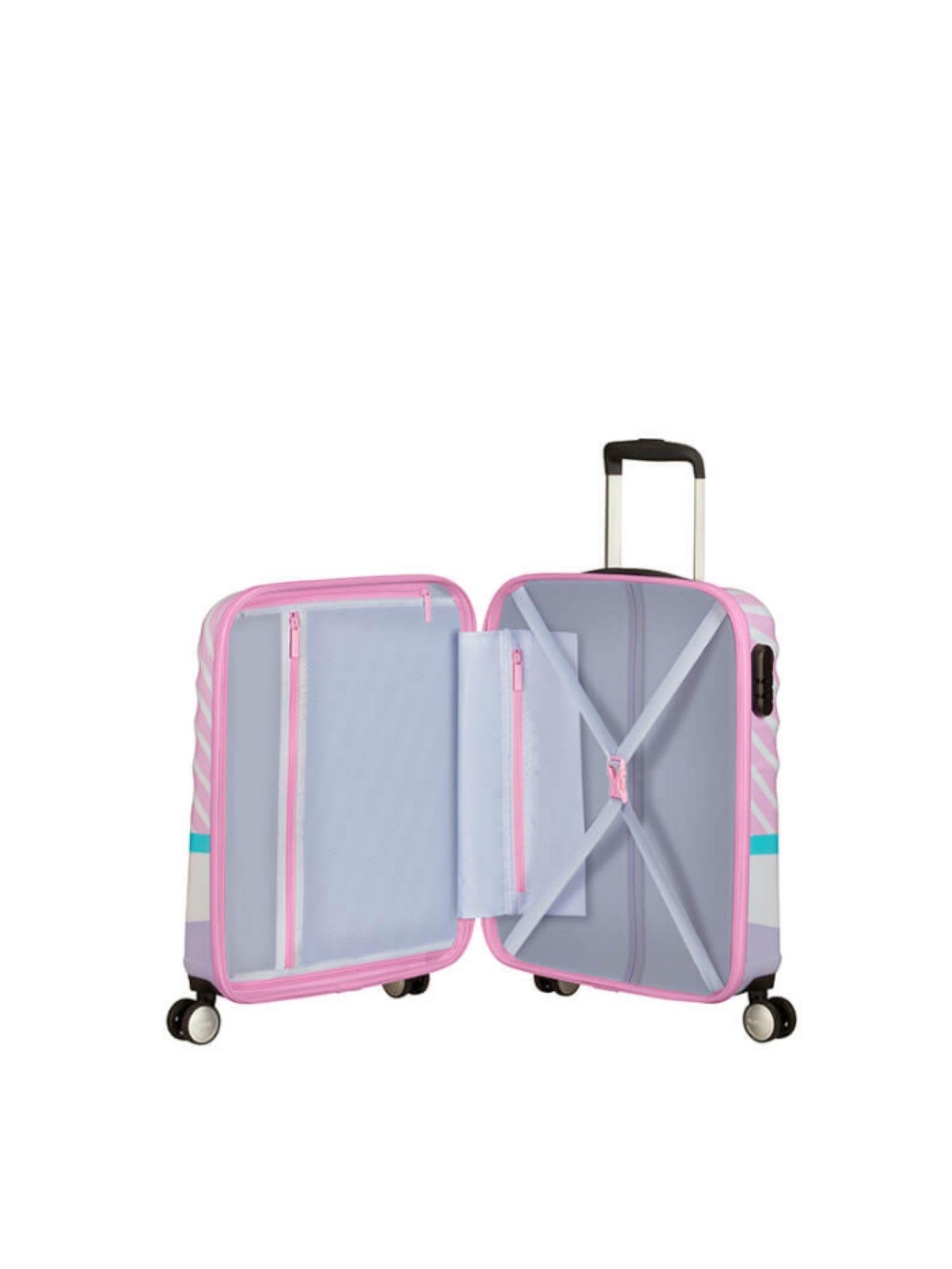 Trolley American Tourister 4 ruote 55 cm. Wavebreaker Disney Daisy Pink Kiss aperta