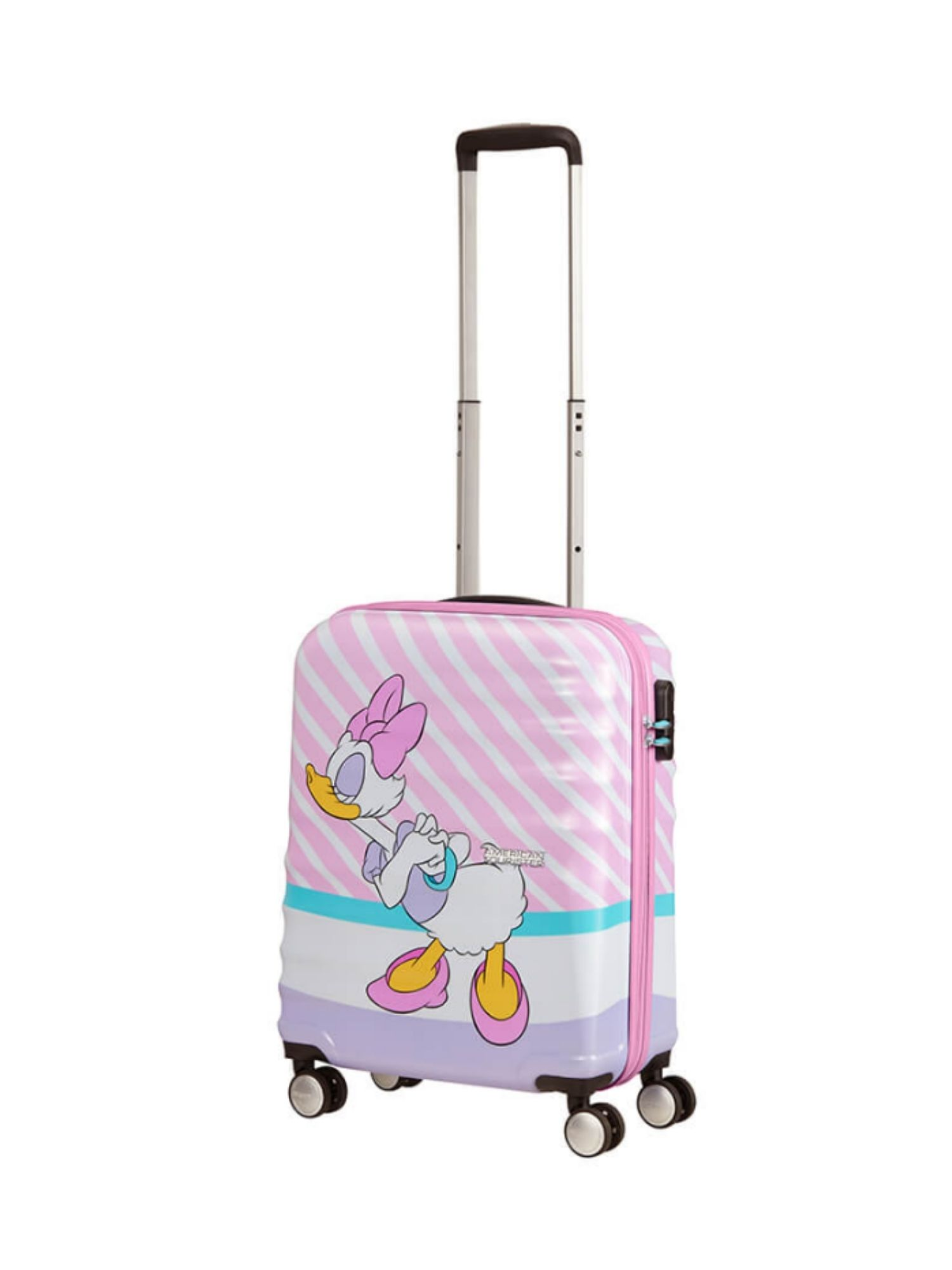 Trolley American Tourister 4 ruote 55 cm. Wavebreaker Disney Daisy Pink Kiss dettagli