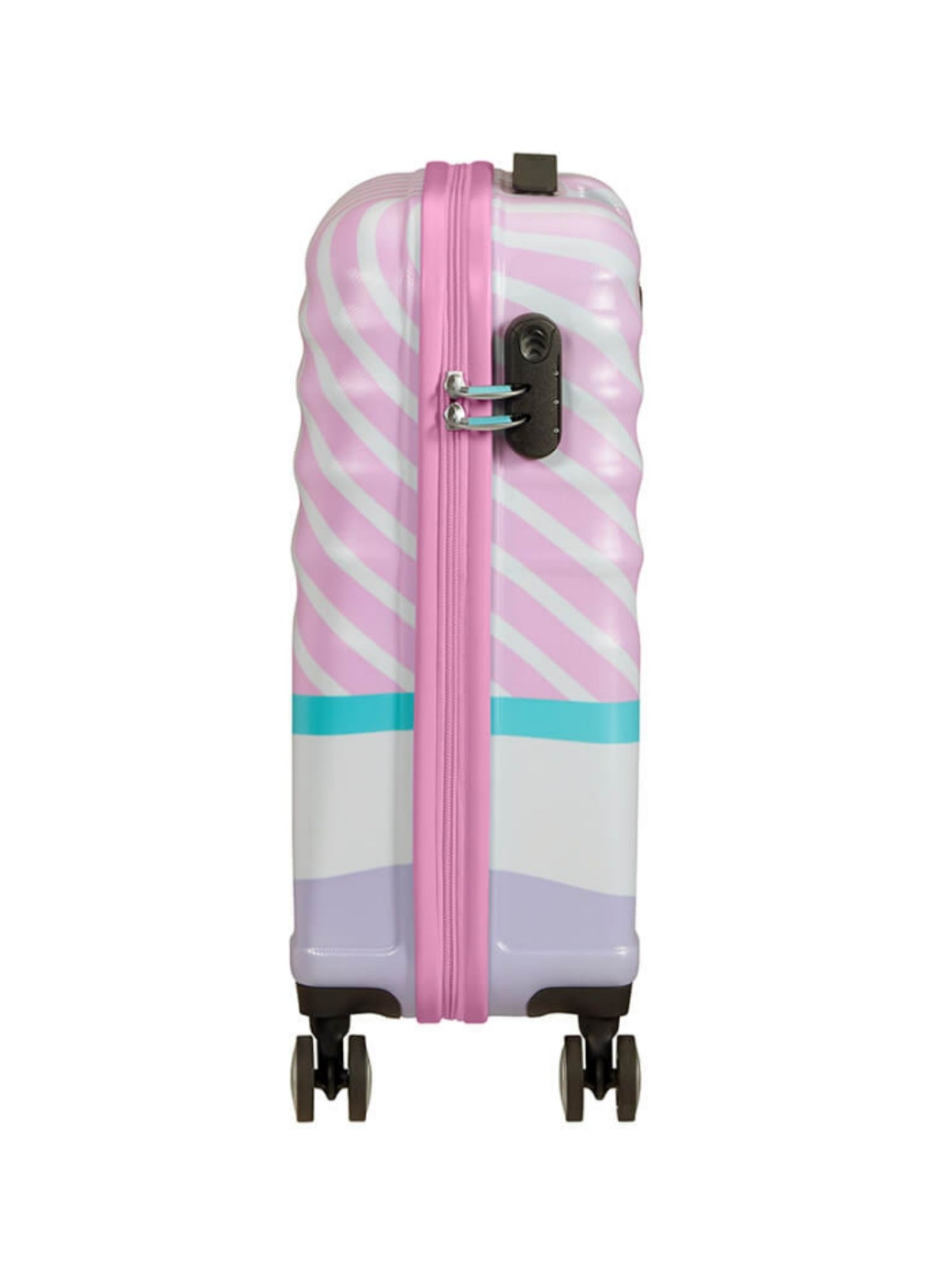 Trolley American Tourister 4 ruote 55 cm. Wavebreaker Disney Daisy Pink Kiss laterale 1