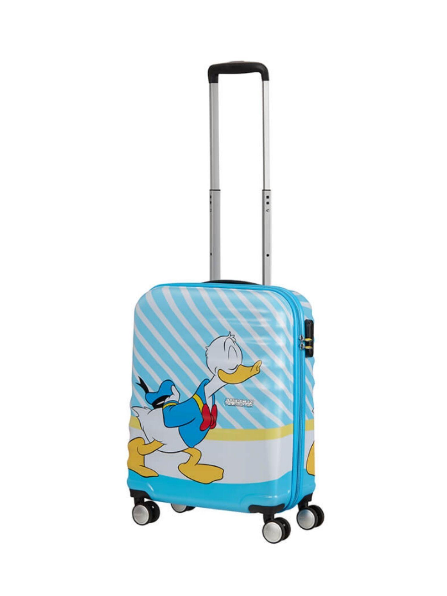 Trolley American Tourister 4 ruote 55 cm. Wavebreaker Disney Donald Blue Kiss dettagli