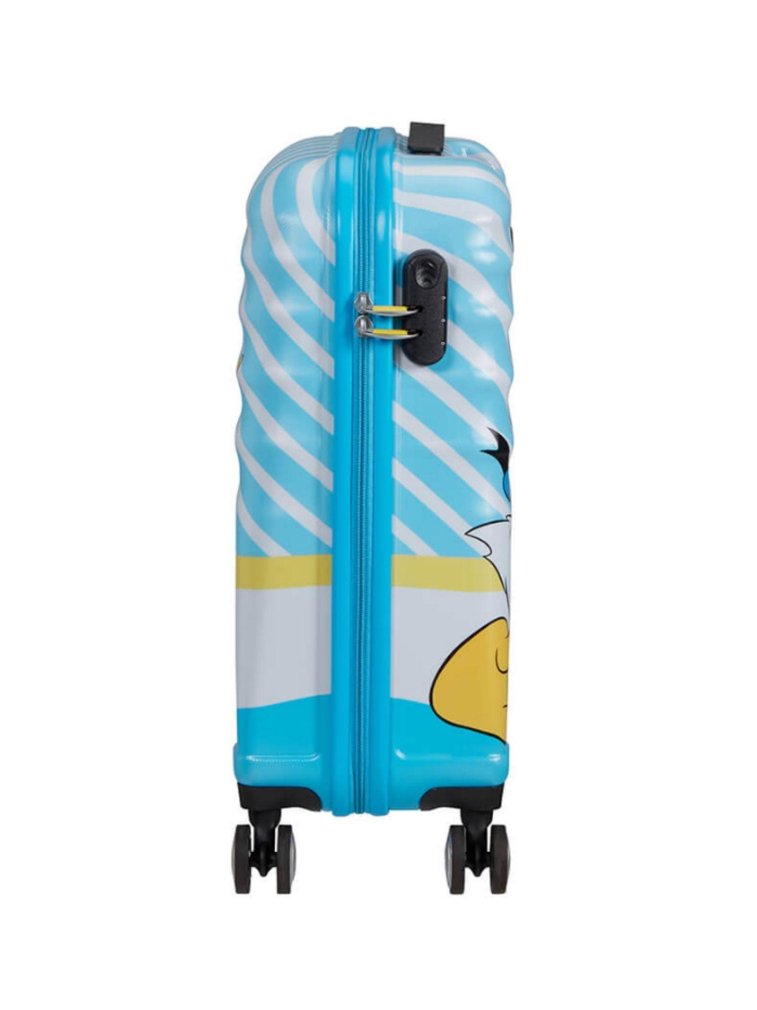 Trolley American Tourister 4 ruote 55 cm. Wavebreaker Disney Donald Blue Kiss laterale
