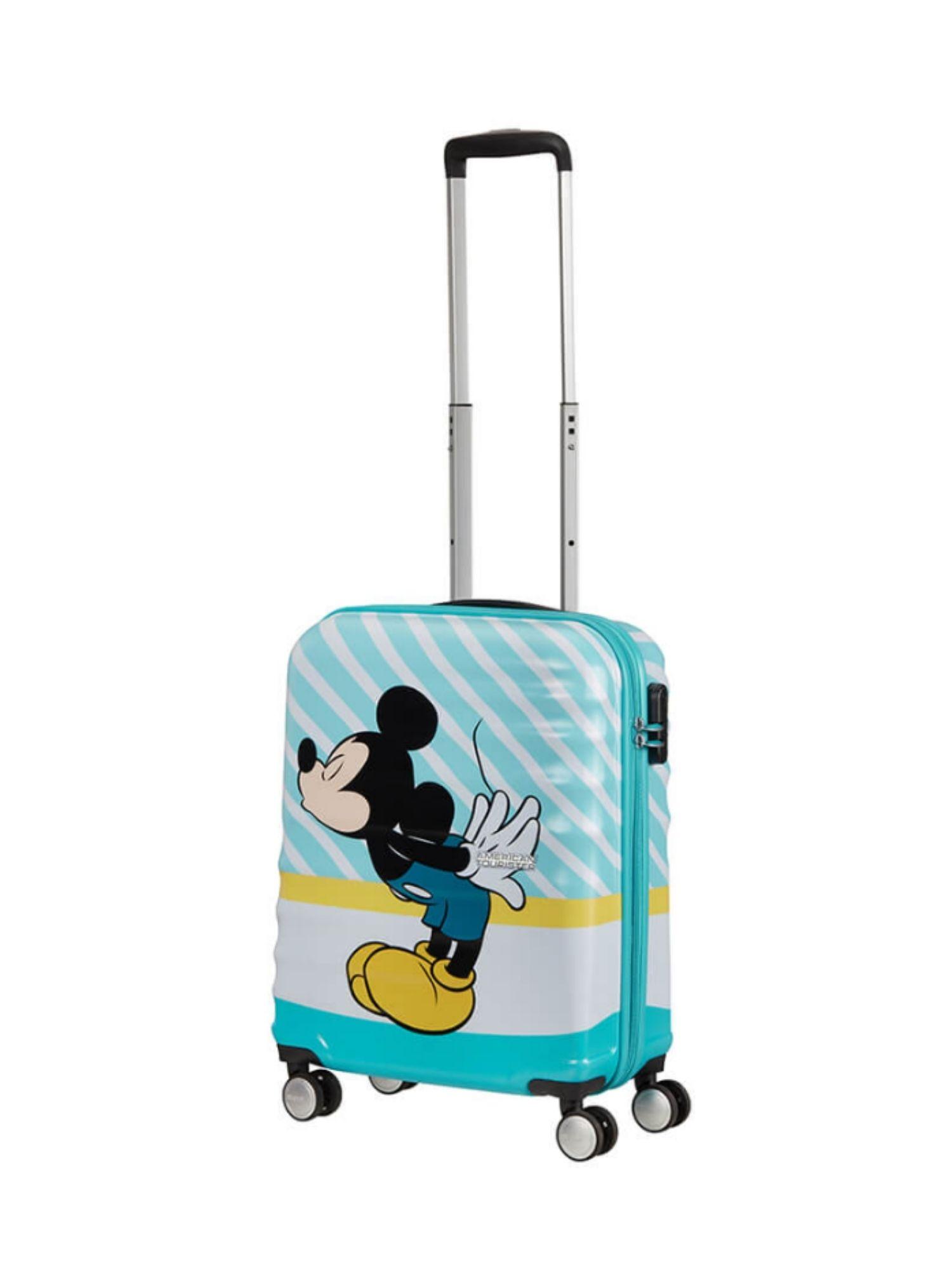 Trolley American Tourister 4 ruote 55 cm. Wavebreaker Disney Mickey Blue Kiss dettagli 1
