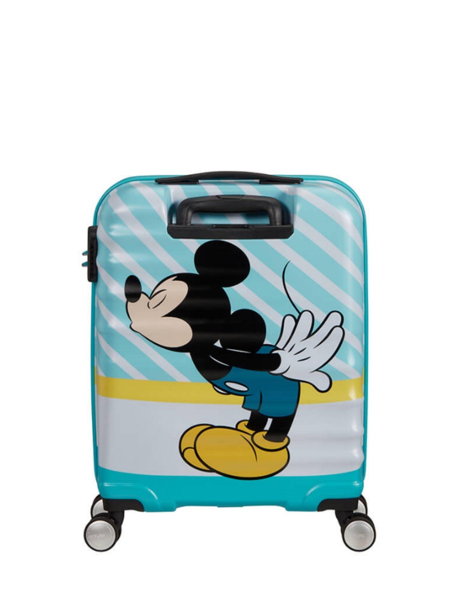 Trolley American Tourister 4 ruote 55 cm. Wavebreaker Disney Mickey Blue Kiss retro 1