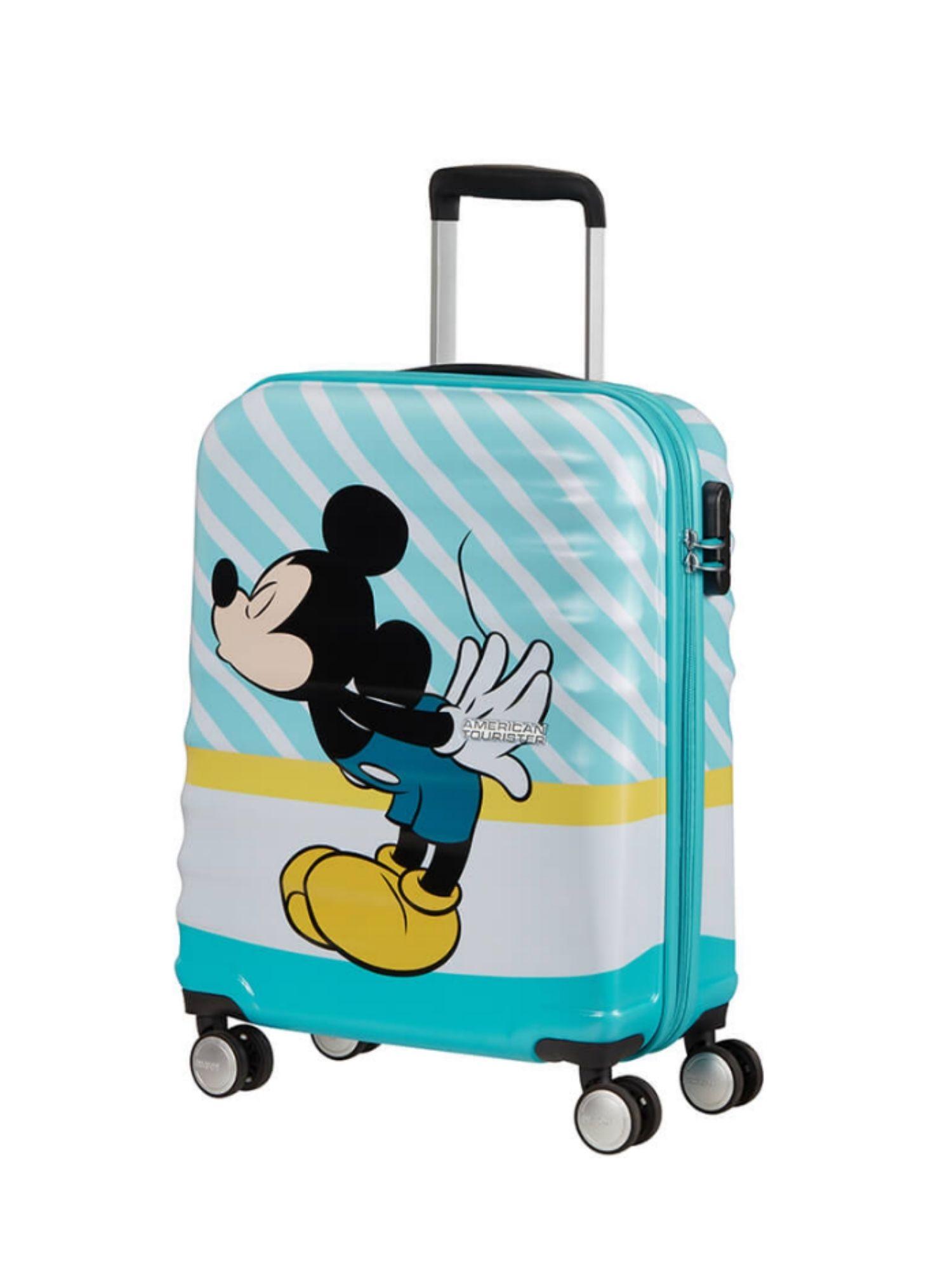 Trolley American Tourister 4 ruote 55 cm. Wavebreaker Disney Mickey Blue Kiss