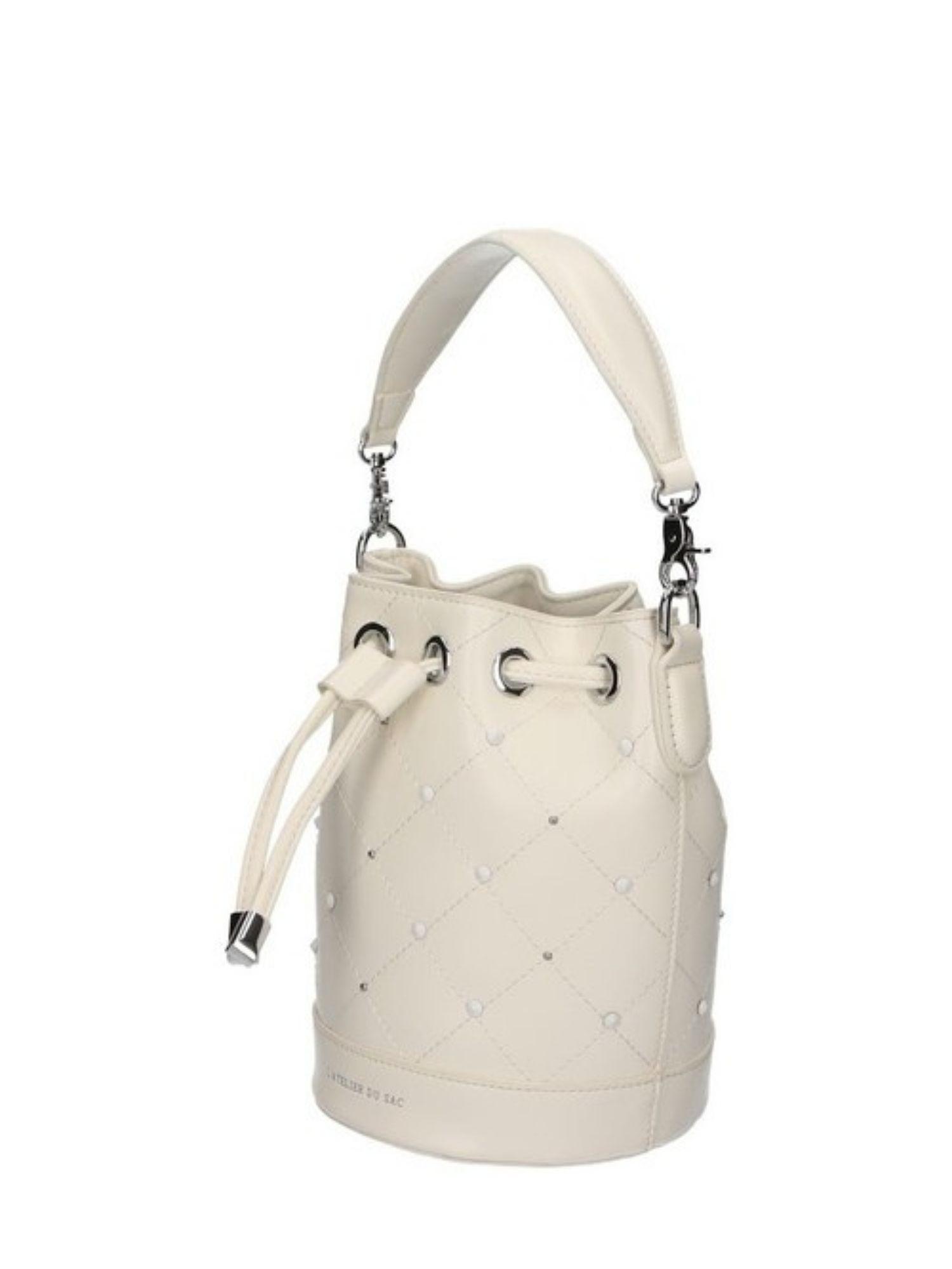 Borsa secchiello Atelier Du Sac Pash Bag 10964 Bianco 1