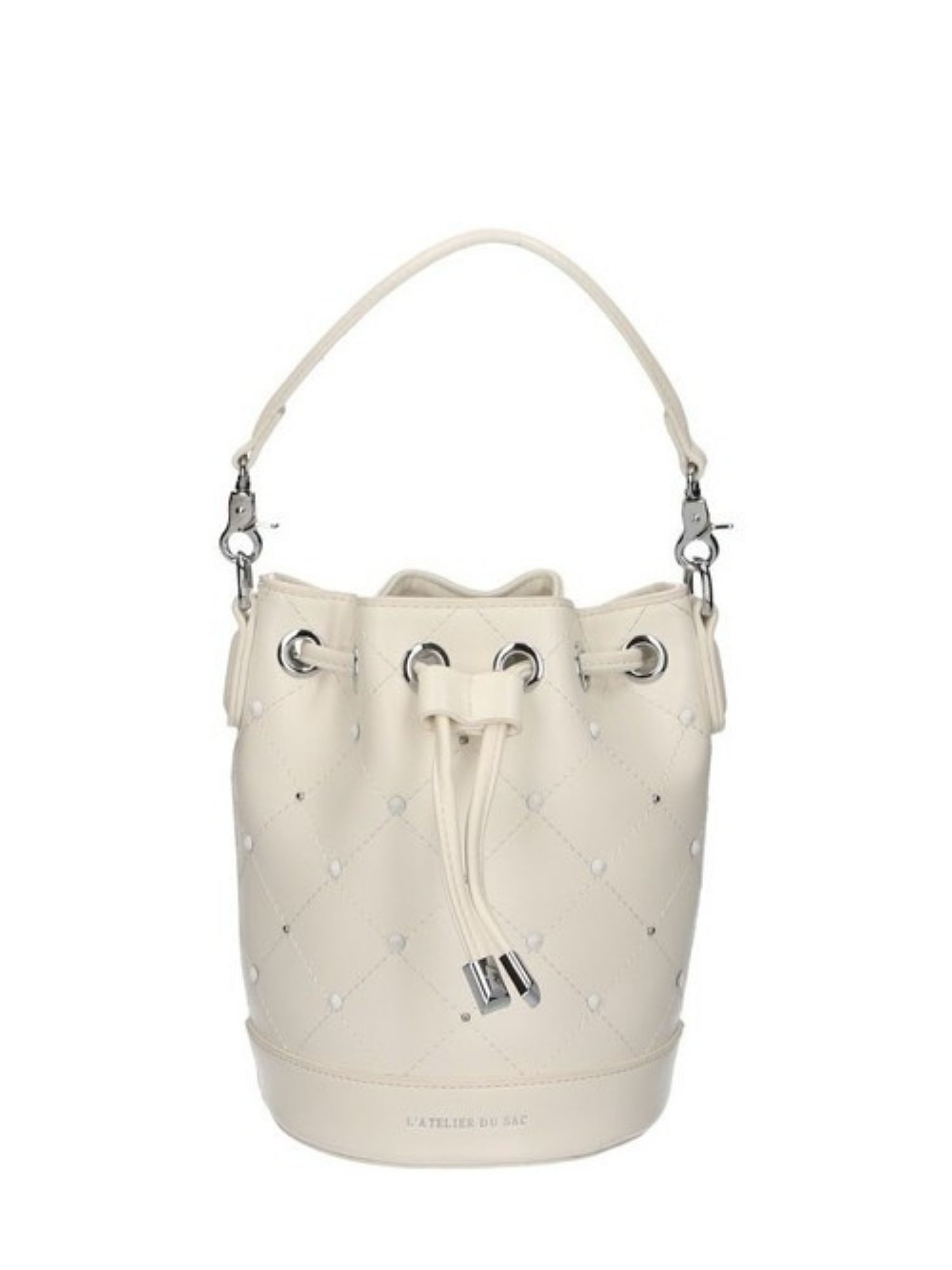 Borsa secchiello Atelier Du Sac Pash Bag 10964 Bianco