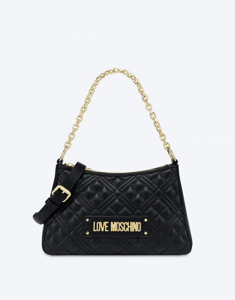 Borsa a Spalla Hobo Bag Shiny Quilted Love Moschino 4135 nera