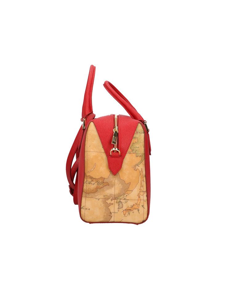 Borsa Bauletto Alviero Martini Urban Way in tessuto goffrato chicco di riso GR249673 rosso scarlatto LATERALE