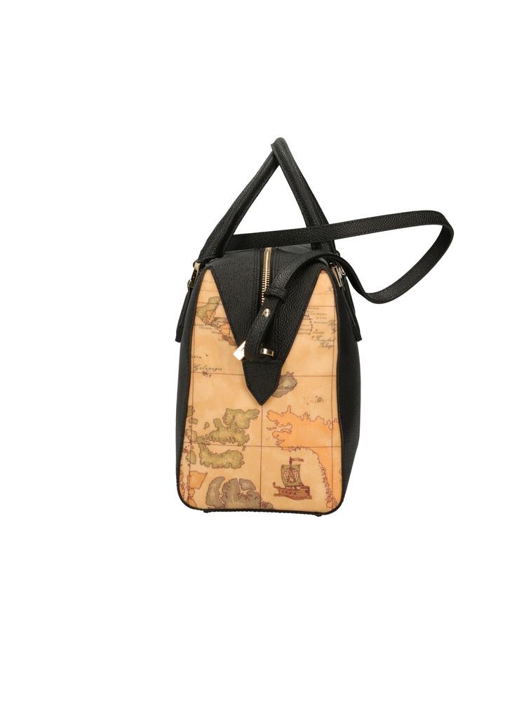 Borsa Bauletto Alviero Martini Urban Way in tessuto goffrato chicco di riso gr249673 nero lato