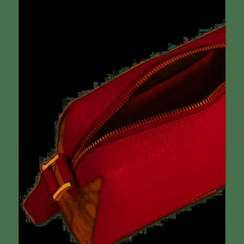 Borsa Tracolla Alviero Martini Urban Way in tessuto goffrato chicco di riso GR269673 red scarlet aperta