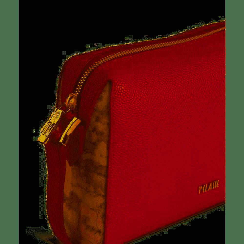 Borsa Tracolla Alviero Martini Urban Way in tessuto goffrato chicco di riso GR269673 red scarlet laterale