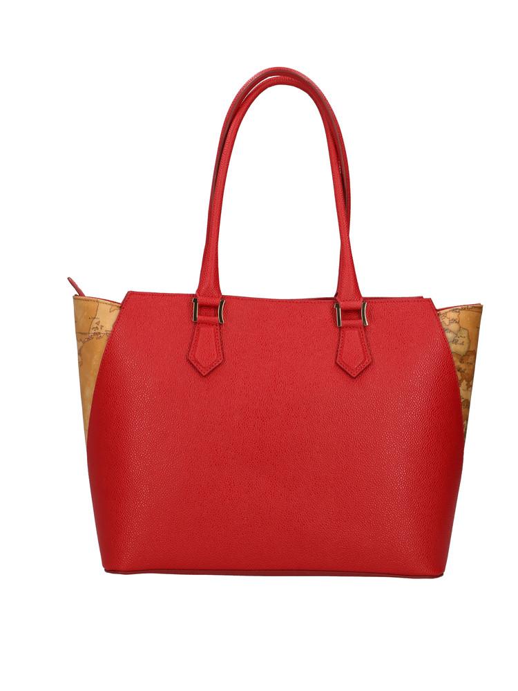 Borsa shopping Alviero Martini Urban Way in tessuto goffrato chicco di riso rosso scarlatto gr259673 rossa retro